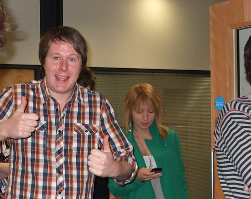 Tim Johns gave the thumbs up to the radio masterclass. | Photo: Debbie Wilson