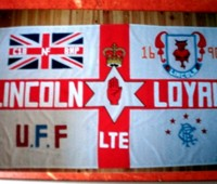 The English Defence League - Lincoln Division flag