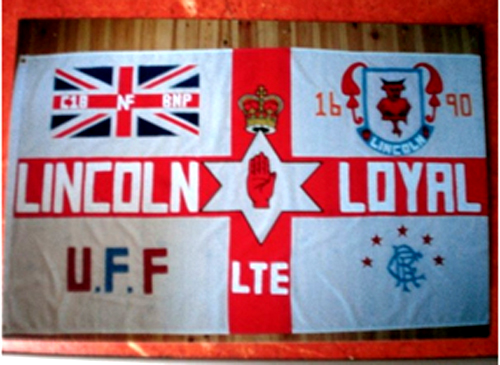 The English Defence League Lincoln Division flag
