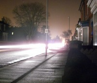 The only sources of light on Carholme Road was car headlights, flickering candles and torches.