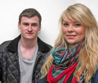 The remainder candidates for the SU President position, Chris Charnley and Alborough.