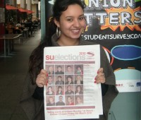 Besma Ayari, just one of thousands who didn't vote in the Student Union elections. Photo: Mike Hodges