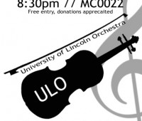 The University of Lincoln Orchestra will perform on Wednesday, March 24th.