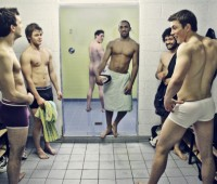 The University of Lincoln rugby team aren't shy and nor should you be. Check for lumps. Poto: Anneka James