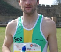 Bruce Raeside won the 14th annual Lincoln 10k recording a new course record of 30.05. Photo: Tom Farmery