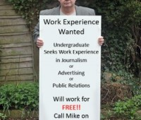 University of Lincoln student (Mike Hodges) will work for nothing just to get experience. Photo: Mike Hodges