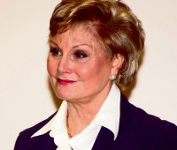 Angela Rippon while at the University of Lincoln. Photo: Anneka James