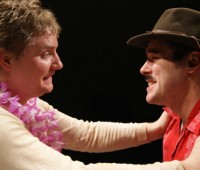 """""""Double Bill"""" consisted of two play: A comedy """"Idol Chat"""" (pictured) and """"Red Betrayal"""", a tragedy set in Stalin's Russia. Photo: 4Front"""