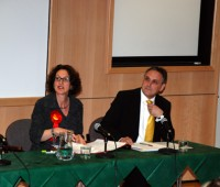 Labour's Gillian Merron and Lib Dem's Reg Shore went head to head at a green debate. Photo: ULPO