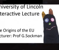 Is the future of academic lectures a hand puppet called Professor G. Sockman accompanied by upbeat music and amusing animations? Photo: Mike Hodges