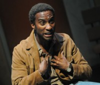 "Clint Dyer stars in ""SUS"", a political play that scrutinises the stop-and-search under suspicion laws in place until 1982. Photo:"
