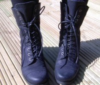 Topshop 'Alfred' Military Boots, £70. Photo: Stacey Cosens