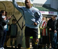Les Ferdinand was one of the stars who graced Sincil Bank in memory of Keith Alexander. Photo: Lewis Healey.