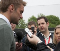 Robert Green speaking to reporters before heading to South Africa. There are more questions he needs to answer now. Photo: City College Norwich