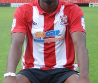Last season's fans' favourite proved to be loanee Davide Somma, this season it could be this man, Mustapha Carayol. Photo: Tom Farmery