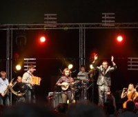 Bellowhead gave a stunning peformance with their big band folk. Phot: Samantha Viner