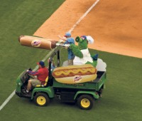 The hot-dog cannon feeds hungry sports fans. Photo: Neil Moakley