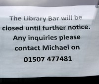 The Library Bar on Brayford Campus has closed for good. Photo: Shane Croucher