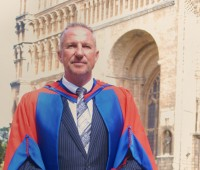 Sir Ian Botham received and honorary doctorate for science from the University of Lincoln. Photo: Tom Farmery