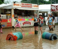 Glastonbury this year was flooded as usual Photo: Geof Wilson