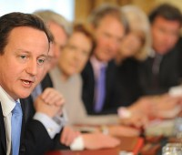 David Cameron announced that the Coalition will be cutting child benefit for the rich. Photo: The Prime Minister's Office