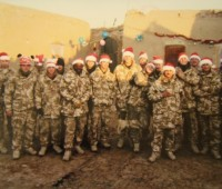 Nathan celebrating Christmas in Afghanistan.  Photo: Property of Nathan