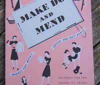Make Do and Mend encourages reusing and recycling. Photo: Felicity Wormwood