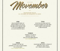 The rules of Movember. (Click to see full size) Photo: Movember