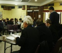 The public meeting took place at the St Mary Le Wigford Church. Photo: Huseyin Kishi