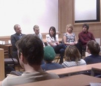 Six graduates returned to talk about their experiences. Photo: The Linc