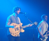 Singer Ezra Koenig and bassist Chris Baio, during Vampire Weekend's show at Sheffield's 02 Academy. Photo: Siobhan Gallagher