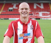 Adam Watts marked his return to the Imps starting line-up with a goal at either end. Photo: Tom Farmery