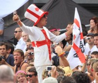 The Barmy Army cheered England on to victory down under. Photo: Stuart Hamilton