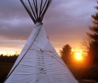 """Caption.Tipi tents makes camping relaxing Photo: Shea Gunther"