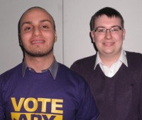 Ary Sharif and Dan Derricott are the candidates running for president in this year's SU elections. Photo: The Linc.