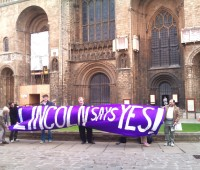 "The Lincoln ""Yes to AV"" campaign kicks off at Lincoln Cathedral. Photo: Marcell Grant"