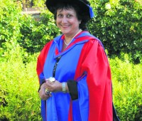 Yasmin Alibhai-Brown recieved a honarary doctorate of letters from the University of Lincoln in 2010. Photo: UoL