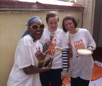 Students and staff volunteered their time to repaint the walls of the Nomad Trust