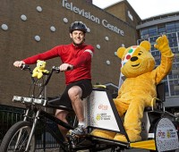 Matt Baker's Children in Need challenge will see him stop off at the University of Lincoln. Photo: BBC