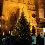 Christmas tree outside the cathedral. Photo: Rachel Sloper