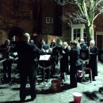 The Lincolnshire Fire and Rescue Band welcomed visitors to the cathedral with Christmas music. Photo: Rachel Sloper