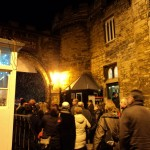 Crowds enter Lincoln Castle to look round the market. Photo: Rachel Sloper