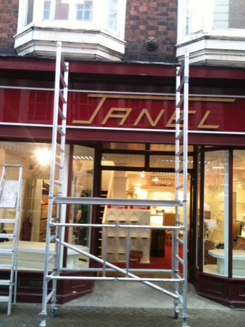 The former Janel store being refurbished