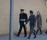 Princess Anne walking towards the new Engineering Hub (Photo:Jamie Freshwater)