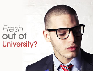 'Fresh out of university?' Matalan graduate poster campaign.