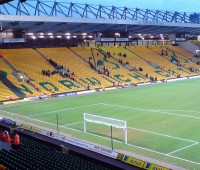 In the Saturday lunchtime kick-off, Norwich hosted Carrow Road. Photo: Oliver Mallich