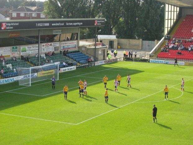 Sincil Bank needs to become a fortress for Lincoln City this season Photo: Daniel Baker.