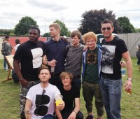 Jack Shaw (bottom left) with Dancing Lotus and Ed Sheeran. Photo: Jack Shaw