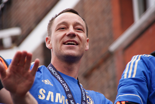John Terry was given a ban for four games by the FA following his altercation with Anton Ferdinand. Photo: Julian Mason