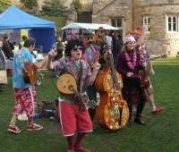 The Cosmic Sausages perform street music to keep visitors to the Lincolnshire BIG Sausage Festival entertained. Photo: David Wriglesworth